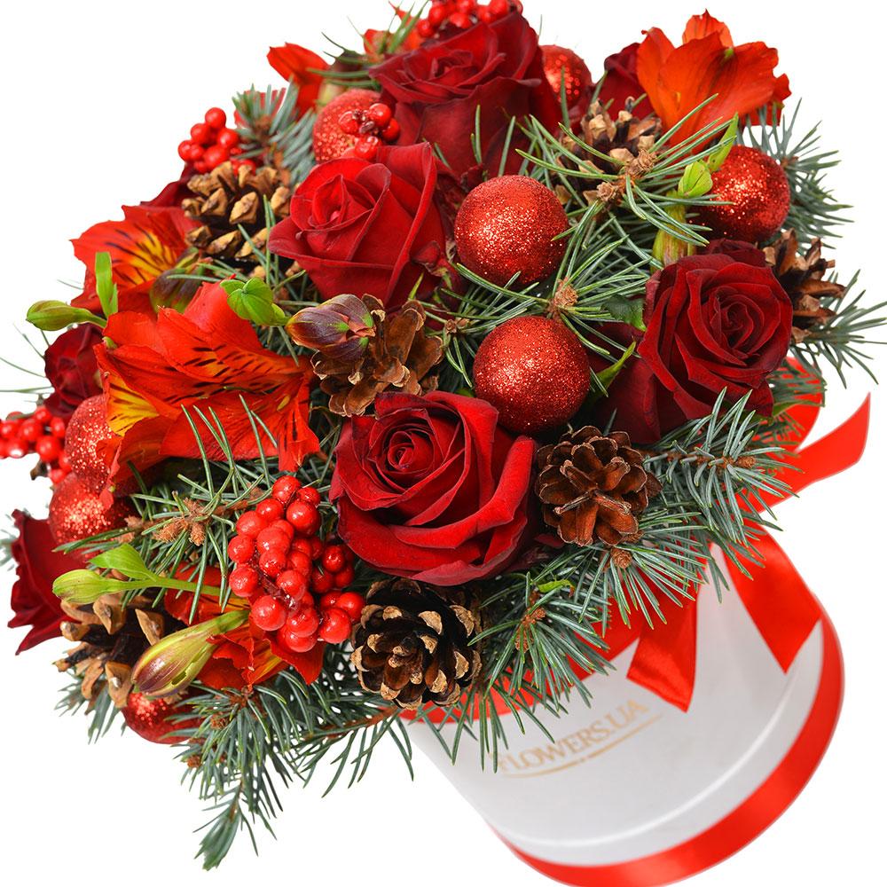 Новогодние букетов в москве дешево, цветов кировском районе